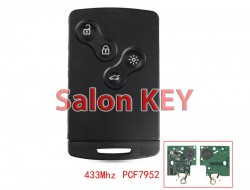 Ключ карта Renault Koleos 2008-2011 Smart system PCF7952 433Mhz