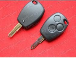 Ключ Renault 3 кнопки лезвие NE73 корпус без электроники