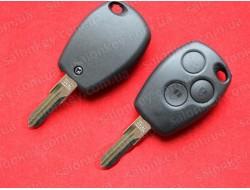 Ключ Renault 3 кнопки лезвие VAC102 корпус без электроники
