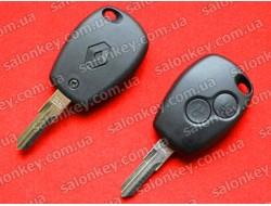 Ключ Renault 2 кнопки лезвие VAC102 корпус без электроники