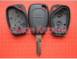 Ключ Renault Kangoo и др. корпус 2 кнопки лезвие VAC102 Хорошего качества Польша