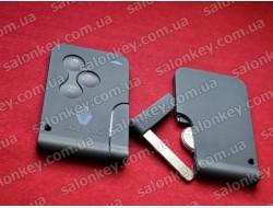 Ключ карта Scenic на 3 кнопки 434Mhz id46 PCF7947 с 2002г  по 2008г
