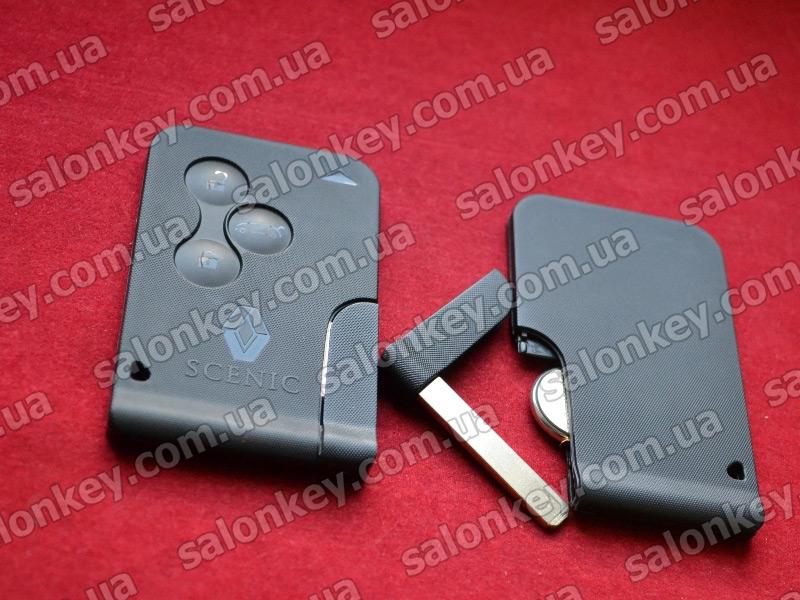 Ключ карточка Renault Scenic на 3 кнопки