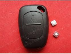 Ключ Opel Movano, Vivaro корпус и 2 микрика. Польша хорошего качества без лезвия