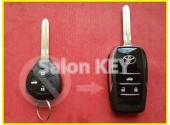 Выкидной ключ Toyota 3 кнопки для переделки из обычного Новый стиль