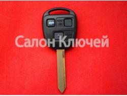 Ключ Toyota Avensis 03-08 с чипом и кнопками