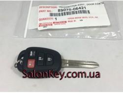 89070-06421 Ключ Toyota (Original) с чипом и кнопками