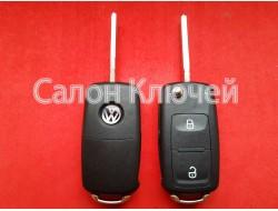 Ключ выкидной Volkswagen 2 кнопки 434Mhz CAN id48 7E0837202AD