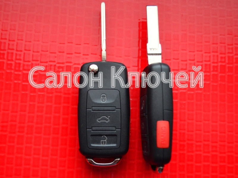 Ключ выкидной Volkswagen 3+1 кнопки 315Mhz CAN id48 5K0837202AK
