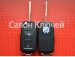 Ключ Volkswagen выкидной 2 кнопки 434Mhz id48 7M3959753