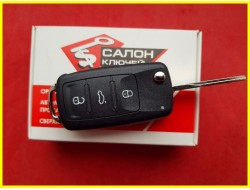 Выкидной корпус ключа Volkswagen Jetta 11-16 USA 3+1 кнопки оригинал